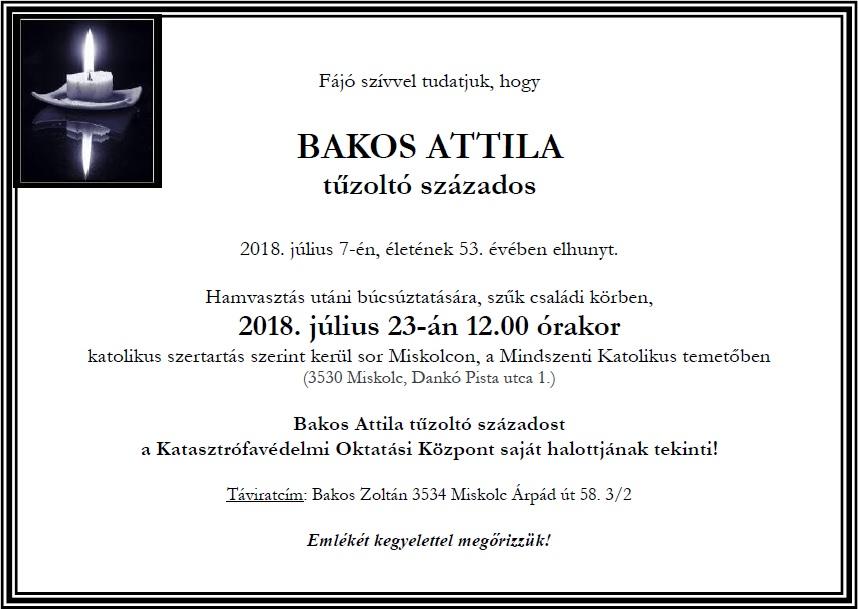 Bakos Attila tűzoltó százados